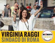Roma 5 Stelle con Virginia Raggi, sindaco della capitale.