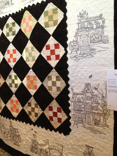 Hocuspocusville. I like the quilting in the black.