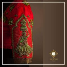 Details and intricacy. They at ranipink studio don t just make clothes they forever try to create memories beauty that you will remember. Beautiful red color designer blouse with gollabama design hand embroidery thread and bead work on sleeve. 17 May 2018