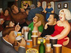 Artwork by Beryl Cook Karaoke, Beryl Cook, Glasgow Museum, English Artists, British Artists, Family Picnic, Portraits, Art Uk, Art For Art Sake