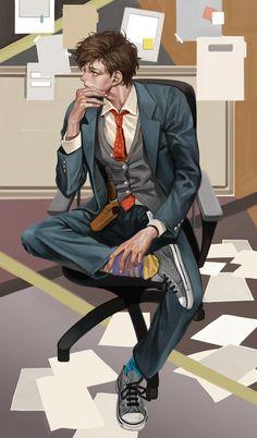 Manga boy  love the details ❤️