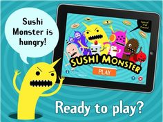 TOP 100 FREE APPS FOR KIDS - SCHOLASTIC'S SUSHI MONSTER! (addition/multiplication) U.S ONLY!    In this app, children must feed the hungry monster the sushi it wants, which is the pieces that add or multiple up to the correct sum!
