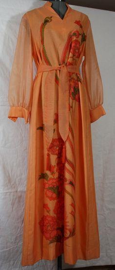 Vintage Dress Alfred Shaheen Hawiian Cafton by ilovevintagestuff