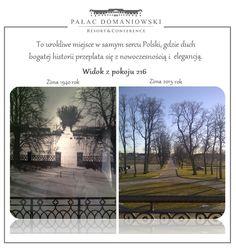 Dwa zdjęcia, jedno miejsce, ten sam balkon... Pałac Domaniowski - zima 1940 - zima 2015
