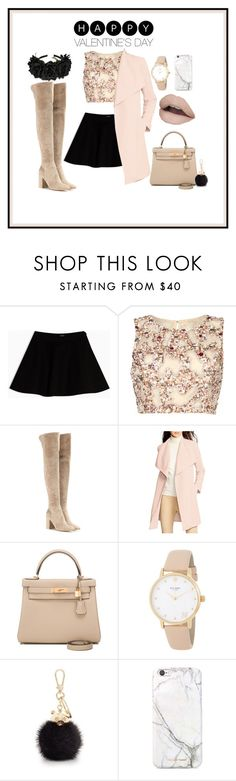 """""""valentine nudes"""" by munira-delic ❤ liked on Polyvore featuring Max&Co., Raishma, Gianvito Rossi, Lauren Ralph Lauren, Hermès, Kate Spade, Furla, NYX and russell+hazel"""
