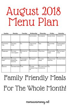 Take the work out of meal planning this month with our free menu plan. This meal plan for July includes 31 unique, delic Monthly Meal Planning, Family Meal Planning, Budget Meal Planning, Meal Planning Printable, Cooking On A Budget, Meal Planner, Cooking Tips, Frugal Meals, Easy Meals