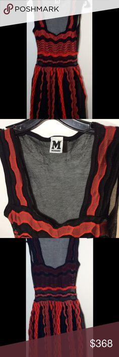 M MISSONI multicolor sheer dress Sz 10 New M Missoni multicolor sheer dress, sleeves, knee length, Nwot.  Has a tiny snag on back. M Missoni Dresses Midi