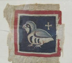 Small Coptic tapestry, quail