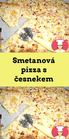Smetanová pizza s cesnekem Cereal, Pizza, Breakfast, Food, Morning Coffee, Essen, Meals, Yemek, Breakfast Cereal