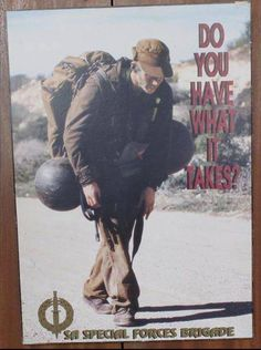 -Vintage Recruiting Poster For The South African Special Forces ,Recces !