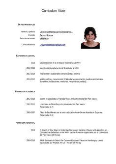 Resultado De Imagen Para Curriculum Simple Fg Resume Curriculum