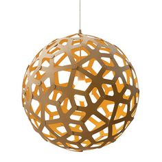 Coral Lamp M Yellow