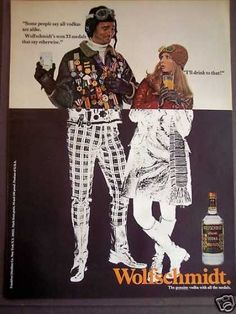 Vintage vodka advert 1970s