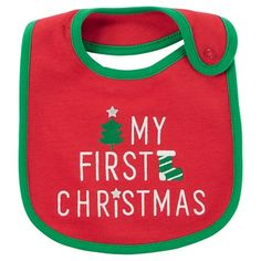 Baby's My First Christmas Bib Red/Green OSZ - Just One You™ Made by Carter's®