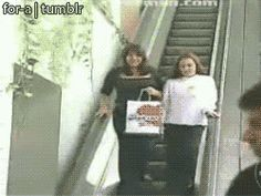This escalator experience. | 15 Things That Escalated A Little Bit Too Quickly Laughing too hard