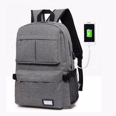 Men USB Charging Laptop Backpack Student Mochila Brand Oxford Large Capacity School Bag For Teenage Boys Casual Travel Bagpack
