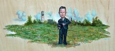 Mr. Hooper, John Dillinger painting | Part of our 15 Handmade: Tennessee All-Stars Edition