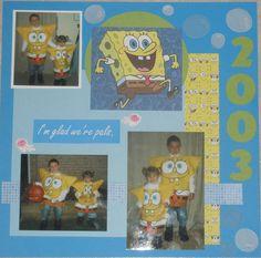 Sponge Bob Halloween 2003 layout - Son - Scrapbook.com