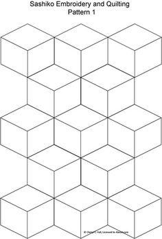 FREE Sashiko Embroidery Patterns - Set 1: Sashiko Pattern 1