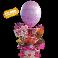 Balloon Gift, Party Centerpieces, Pitbulls, Balloons, Candy, Box, Birthday, Crafts, Store