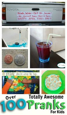 PRANKS FOR KIDS - haha! The kids would love these!