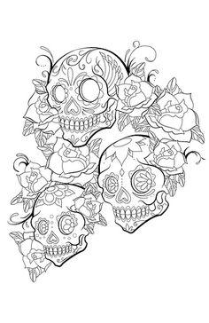 Sugar Skulls Tattoo **LOVE IT** Design by jeremykylebrown, via Flickr