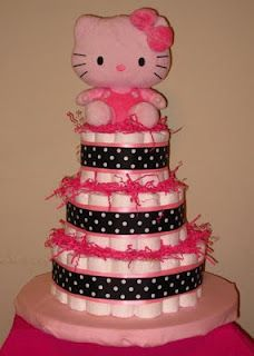 Diaper Cakes by Jack: Hello Kitty
