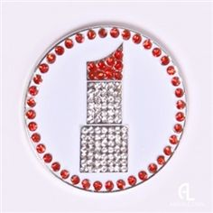 Lipstick Ball Marker & Hat Clip by Abigale Lynn.  Buy it @ReadyGolf.com