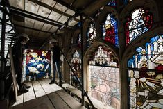 Conservators replace the final stained glass panel in York minster's 600 year-old great east window after a refurbishment Photograph: Oli Scarff/AFP/Getty Images York Minster, Picture Editor, Wolf Moon, Camels, S Pic, Glass Panels, The Guardian, Stained Glass, Cool Photos