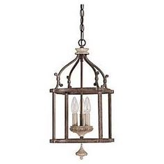 Capital Lighting Fixture Co. 9471FO Chateau Small French Oak 3-light foyer $252 and up Peninsula? sink?