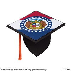 Shop Missouri flag, American state flag Graduation Cap Topper created by maxiharmony.