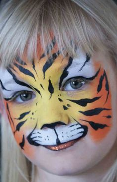 CJ--Kids face painting ideas - maybe fun for Ruby's party! Painting For Kids, Painting Tips, Art For Kids, Animal Face Paintings, Animal Faces, Face Painting Designs, Painting Patterns, Tiger Face Paints, Face Paint Makeup