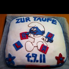 smurf cake Homemade Cakes, Desserts, Food, Tailgate Desserts, Deserts, Essen, Postres, Meals, Dessert