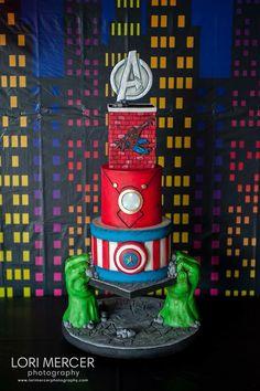 Avengers cake, so cool!