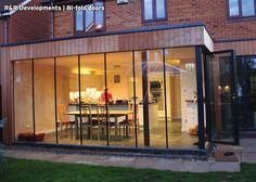 concertina doors garden - Google Search