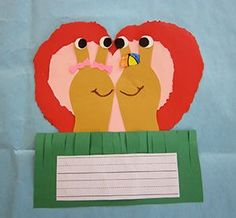 Slugs in Love Valentine's Day Craft (with materials you probably have in your classroom already!)