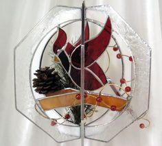 Cardinal Whirl by SerendipityGlassWrks on Etsy, $75.00   Love This!!