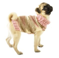 Knitted Dog Sweater Sizes XXS to Large in Pink by thedoggiemarket