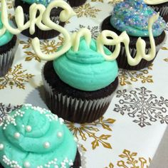Winter cupcakes - oh my!! these are super fun!!!!!!!!! -- Patty!!!!