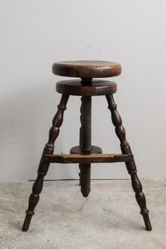 Factory Stool with Wide Footrest, 1880s for sale at Pamono