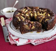 Sticky pear & ginger cake. This is just amazeballs. Like a sticky toffee pudding but even nicer.