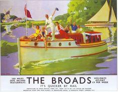 1937 LNER Norfolk Broads Railway Poster A2 Reprint: Amazon.co.uk: Vintage Poster…