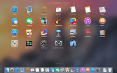 New look Launchpad on OSX Yosemite #osx #launchpad