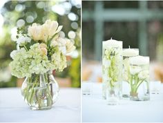 Centerpiece Idea  Google Image Result for http://studiostems.files.wordpress.com/2011/08/green-candle-pitcher-centerpieces-studio-stems-submerged-flowers.jpg