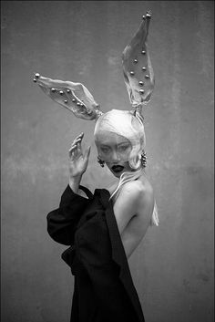 Rabbit Ears - black & white fashion photography // Ph. Sheena Liam test shot Dark Photography, Fashion Photography, Abstract Photography, Beauty Photography, Rabbit Ears, White Fashion, Fashion Art, Editorial Fashion, Wearable Art