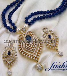 Fashion Diamond Pendant by PNG - Jewelery Designs India Jewelry, Bead Jewellery, Pendant Jewelry, Beaded Jewelry, Jewlery, Indian Bridal Jewelry Sets, Wedding Jewelry, Bridal Jewellery, Pendant Set