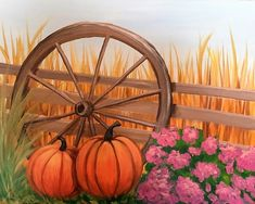 Autumn Painting - Homeward Flight by April McCarthy-Braca Fall Canvas Painting, Cute Canvas Paintings, Simple Acrylic Paintings, Autumn Painting, Autumn Art, Diy Painting, Canvas Art, Fall Paintings, Pumpkin Painting