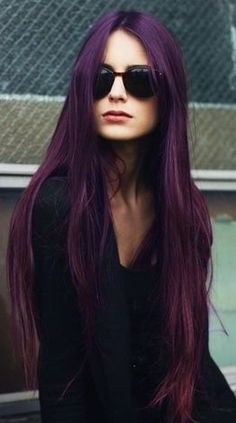 Violet Long Straight Hair