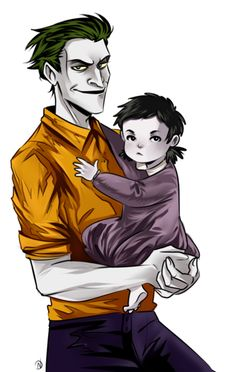 Joker with his and Harley's daughter Luci Quinzel