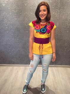 83 Best Mexican Images Mexican Clothing Embroidered Blouse